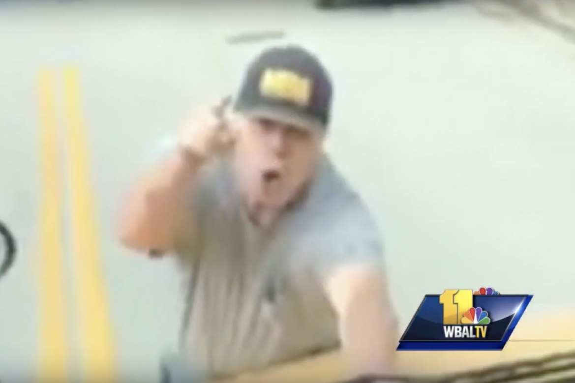 Video: Man in US Faces Charges After Clinging To Moving School Bus 1