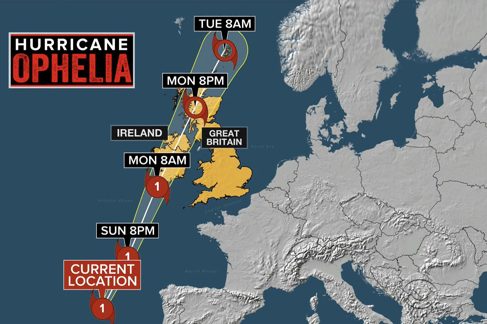 Ireland Closes Schools As Hurricane Ophelia Approaches 1