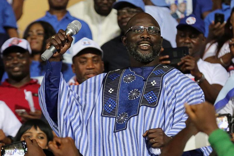 newsfeeds24,Manchester City FC,Chelsea FC,AC Milan,Liberian President,Liberia,George Weah,politics,football,soccer,