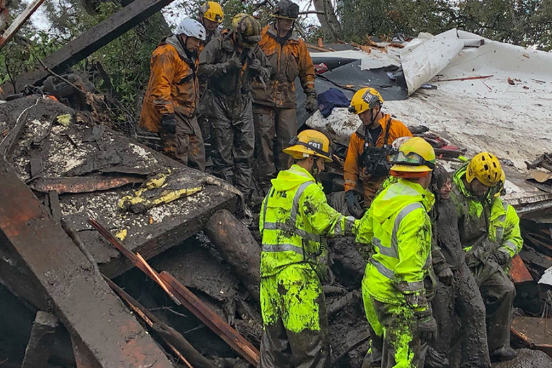 Video: California Mudslide Kills 30 With Hundreds Injured, Trapped Or Missing 1