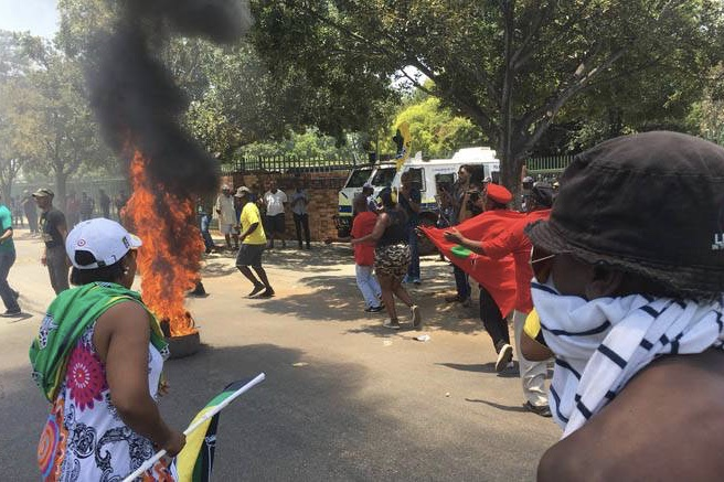 Video: The 2nd Day Of Protests Prove To Be More Violent As Petrol Bombs Are Thrown By The Eff 1