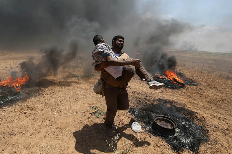 Video: Violence In Gaza: Palestinians Prepare To Bury 58 After Clashes With Israel 1