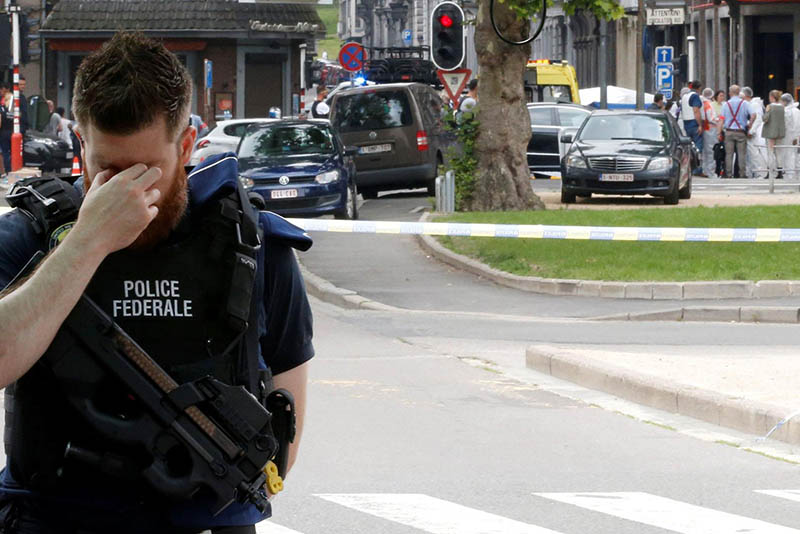 high alert,news,released from prison,radical Islamists police watchlist,Benjamin Herman,Leonie de Waha school,used their own firearms to kill them,two female police officers,terrorist,Islamist-linked,Belgium,Liege,shot,stabbed,Two police officers killed,