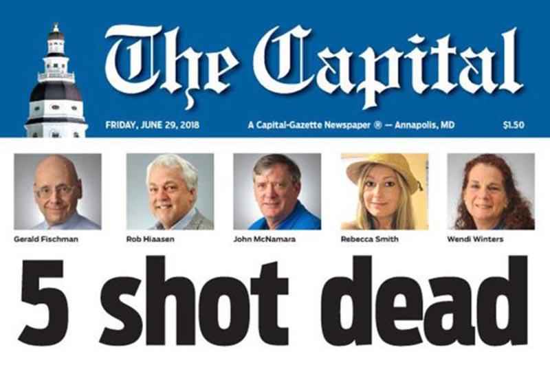 Gunman kills five staff at US newspaper The Capital 1