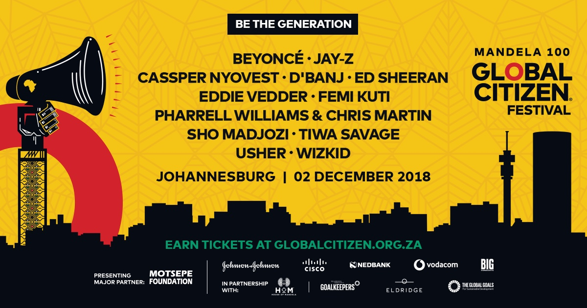 The Global Citizen Festival Has Announced Its Line-up! 2