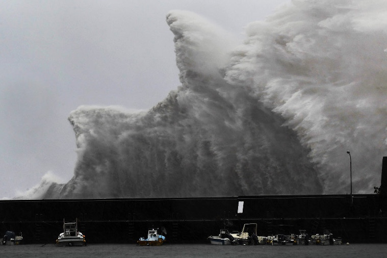 Weather,News,Typhoon Jebi,Japan,flooding,strong winds,landslides,