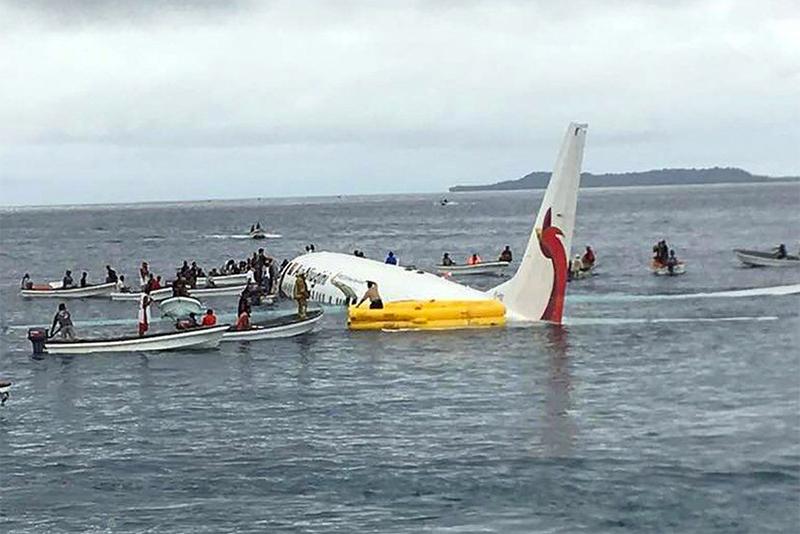 Air Niugini plane lands in Micronesia lagoon,news,