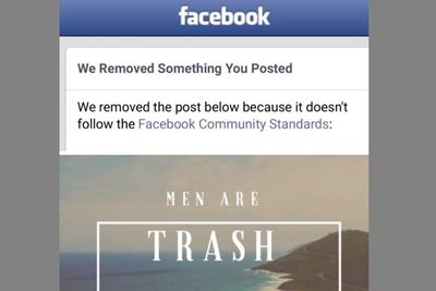 Woman Gets Banned From Facebook For Saying 'men Are Trash'