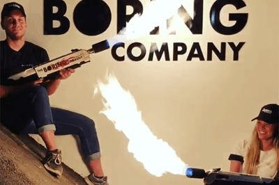 Elon Musk's Boring Company Fires Up Its First Flamethrower
