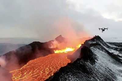 Drone Footages Helps Saves Hawaiians Trapped By Lava
