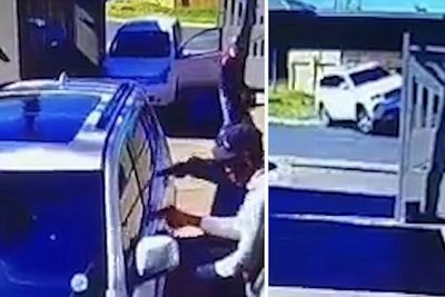 Woman Fights back by Ramming her Jeep into Armed Hijackers