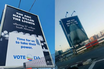 DA Billboard Vandalised – Will Request Police To Investigate