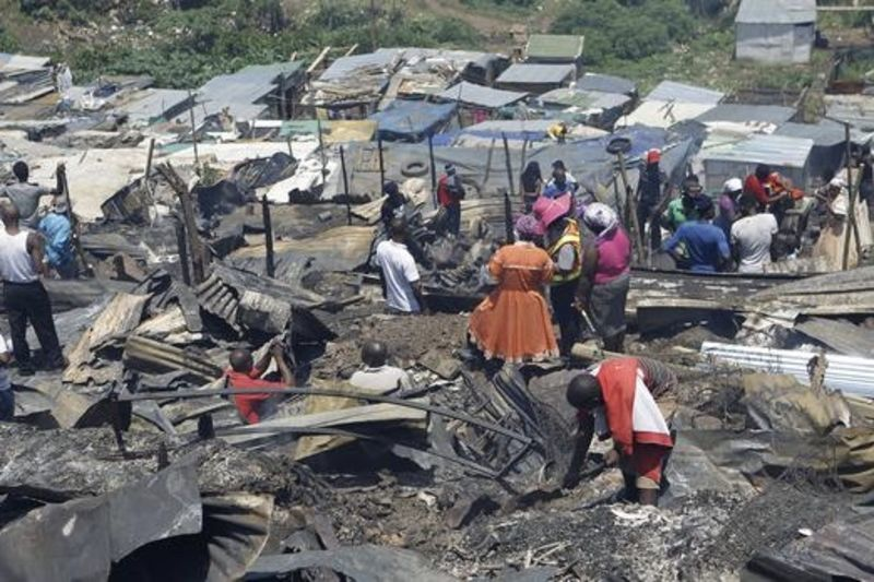 Durban Shack Fire Leaves 2,000 Homeless And Toddler Dead 1