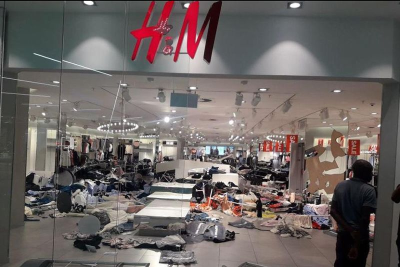 Video: H&m Stores Trashed Facing Racism Accusations 1