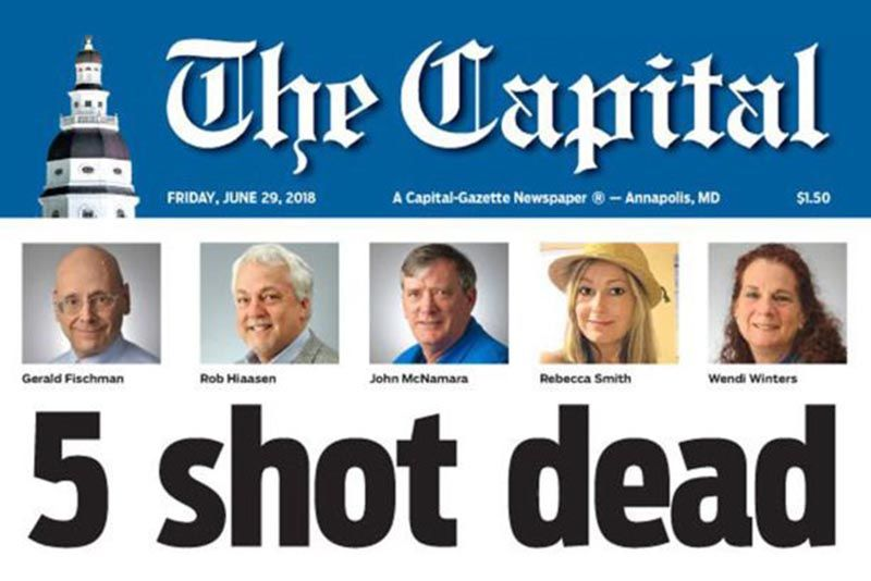 Gunman Kills Five Staff At Us Newspaper The Capital 1