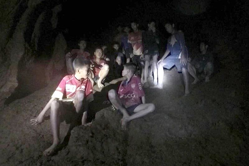 Boys And Coach Of Thai Football Team Found Trapped In Cave After 9 Days 1