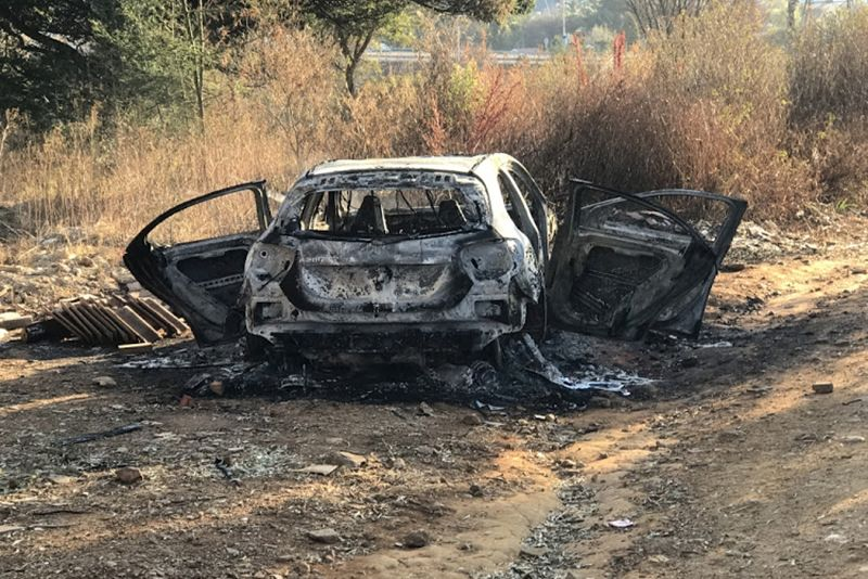 news,BMW X5 bullet holes,burned out Mercedes,charred rifle,suspected hit,Serbian man killed,Serbian murdered in Johannesburg,