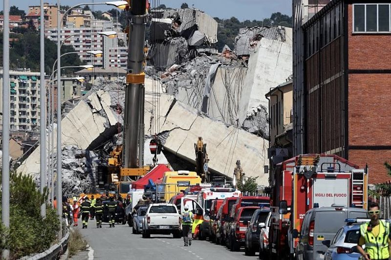 News Update: Cctv Footage Of Italy Bridge Collapse 1